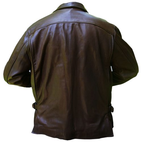 Brown Mens Brown Leather Bomber Jacket Fashion Collection Free Shipping