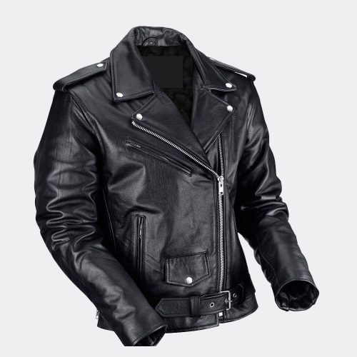 Men's Motorcycle Distressed Retro Biker Real Black Leather Jacket Motorcycle Collection Free Shipping