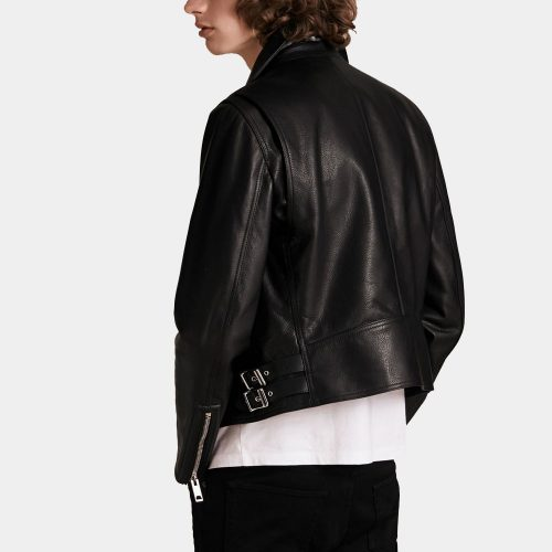 Clean-lined Leather Biker Jacket MotoGP Leather Jackets Free Shipping