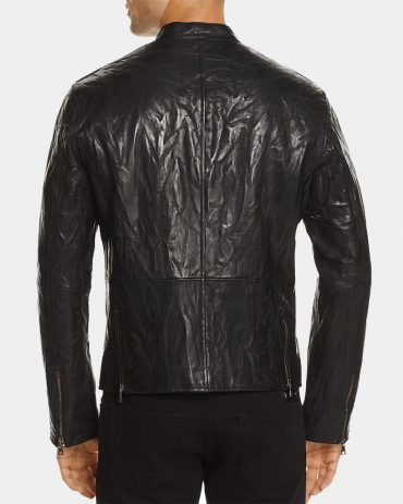 John Varvatos Studded Metal Lambskin Leather Jacket Fashion Collection Free Shipping