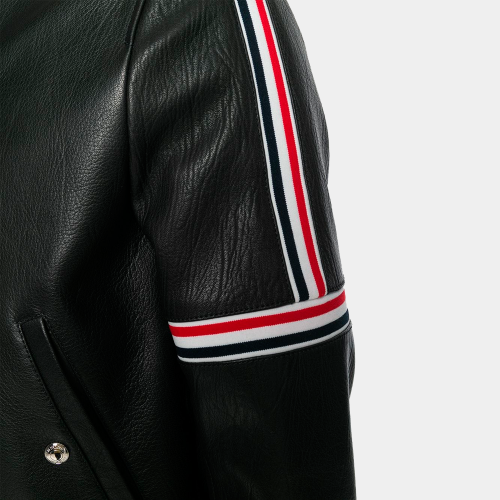 Cropped Elastic Seamed Biker Jacket Leather Mens Fashion Collection Free Shipping