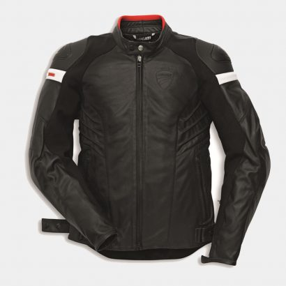 Dark Armour Men's Motorcycle Leather Jacket-Ducati Replica Motorcycle Collection Free Shipping