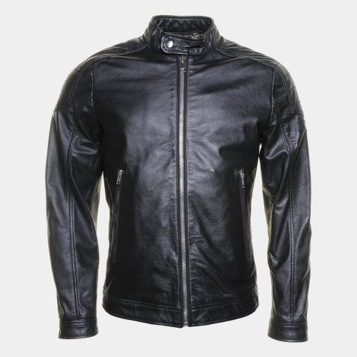 Diesel L-Monike Black Leather Jacket Men Fashion Collection Free Shipping