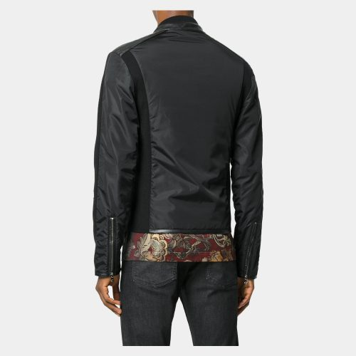 Men leather jackets with wooI Fashion Collection Free Shipping