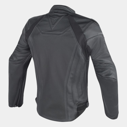 Fighter Perforated Motorcycle Leather Jackets Motorcycle Collection Free Shipping