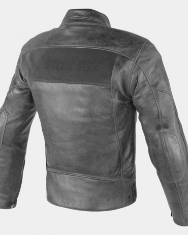 Stripes Perforated Motorcycle Leather Jackets Motorcycle Collection Free Shipping
