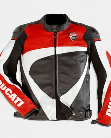 Corse 12 Men's Motorcycle Leather Jacket-Ducati Replica Motorcycle Collection Free Shipping