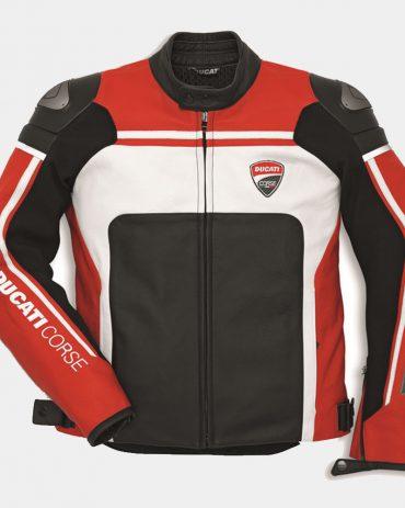 Corse C2 Men's Motorcycle Leather Jacket-Ducari Replica Motorbike Jackets Free Shipping