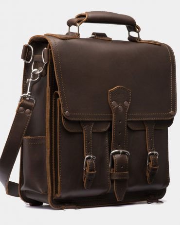 Front Pocket Leather Messenger Bag-Saddlebackleather Replica Bags Free Shipping