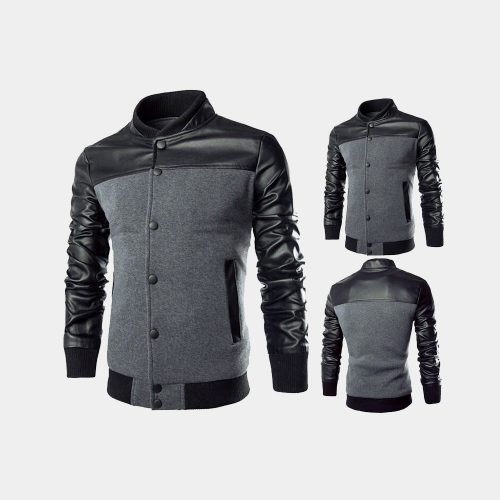 Grey fashion Leathers For Men Fashion Collection Free Shipping
