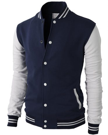 H2H Mens Slim Fit Varsity Baseball Bomber Cotton Lightweight Premium Jacket Fashion Collection Free Shipping