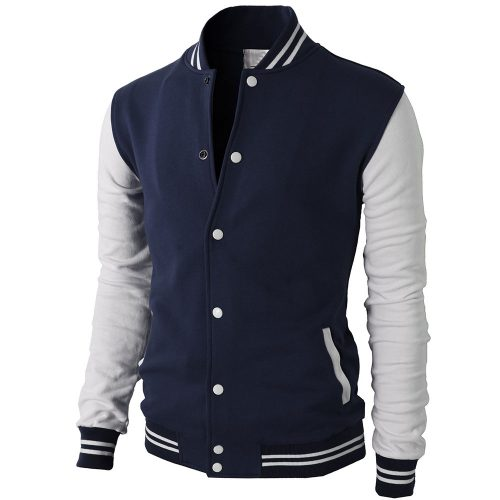 H2H Mens Slim Fit Varsity Baseball Bomber Cotton Lightweight Premium Jacket Fashion Collection Free Shipping