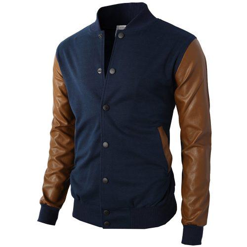 Mens Slim Fit Varsity Baseball Jacket of Various Styles Fashion Collection Free Shipping