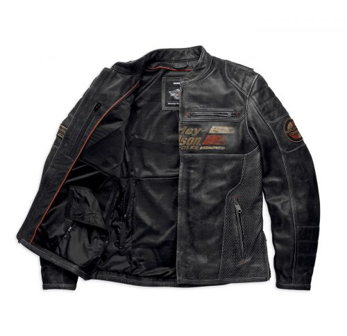 Men's Harley Davidson Astor Patches Distressed Leather Jacket. Motorcycle Collection Free Shipping