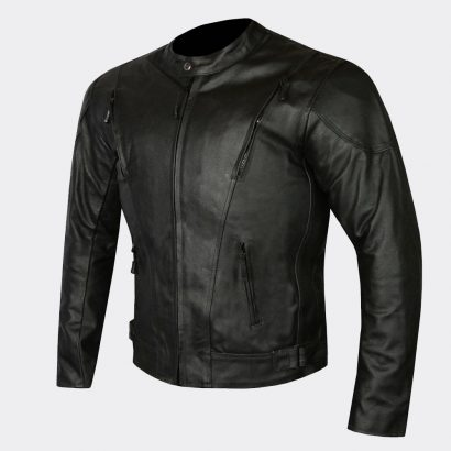 Highly Ventilated Motorcycle Leather Cruiser Armor Touring Jacket for Men Motorcycle Collection Free Shipping