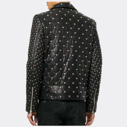 Designer Fashion Biker Mens Leather Jackets Black Fashion Collection Free Shipping