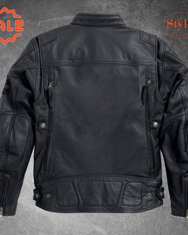 Harley Davidson Mens EXMOOR Reflective Wing Motorcycle Leather Jacket Motorcycle Collection Free Shipping