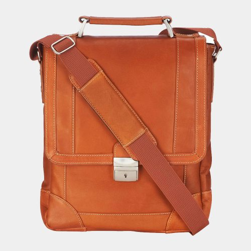 Wilsons Leather Vacqueta Single Lock Leather Tablet Bag Bags Free Shipping