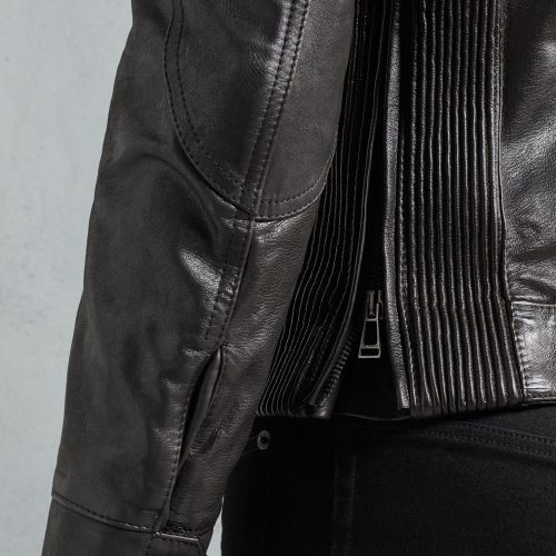 Black Signature Hand Waxed Leather Fashion Jacket For Men Fashion Collection Free Shipping