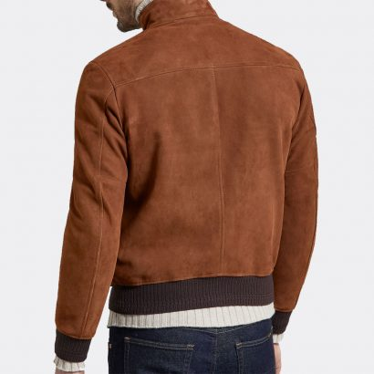 Fashion Hughes Jacket in Chestnut Nappa Leather Jacket Men Fashion Collection Free Shipping