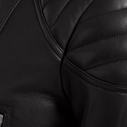 Men's Leather Jackets Sidney in Merino Shearling Black. Fashion Collection Free Shipping