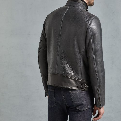Lightweight Shearling Fashion Men's Leather Jacket Fashion Collection Free Shipping