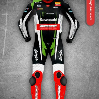 Kawasaki Ninja Motocard SBK 2017 Leather Suit MotoGp Collection Free Shipping