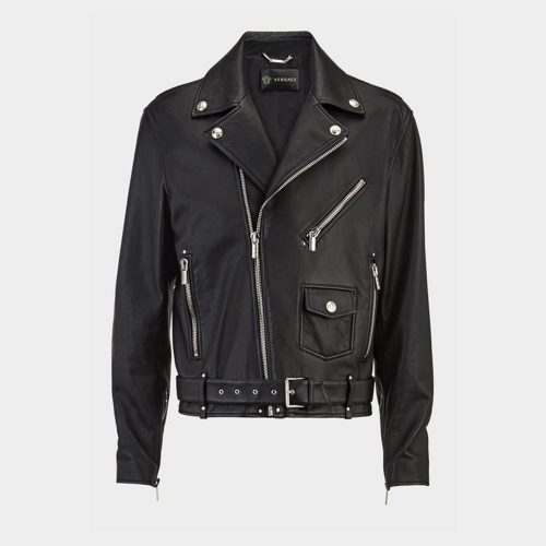 Leather Biker Jacket-Versace Replica MotoGP Leather Jackets Free Shipping