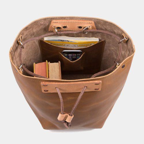 Saddlebackleather Leather-Bucket-Backpack Bags Free Shipping