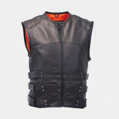 Leather fashion vest Fashion Collection Free Shipping