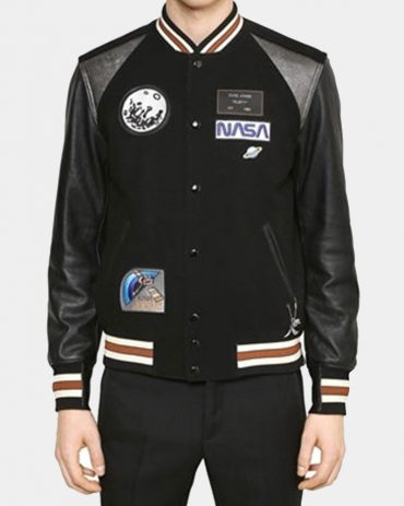 Leather & Wool Varsity Jacket Fashion Collection Free Shipping