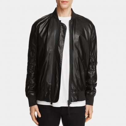 Lamb Leather Bomber Jacket Fashion Collection Free Shipping