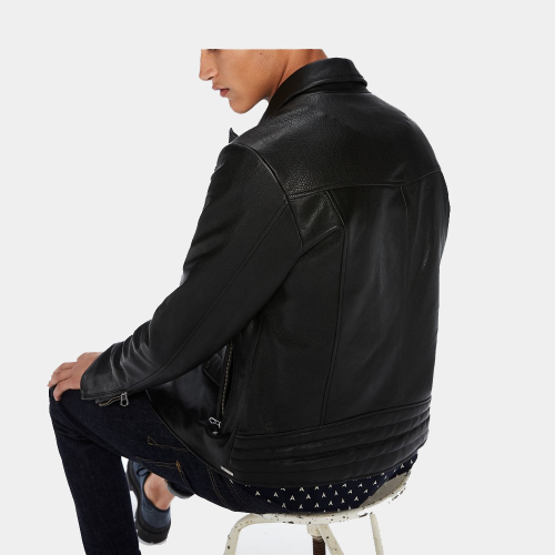 Black Biker Lather Jackets Mens Fashion Collection Free Shipping