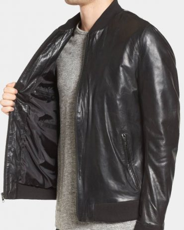 Lamarque Leather Bomber Jacket Fashion Collection Free Shipping