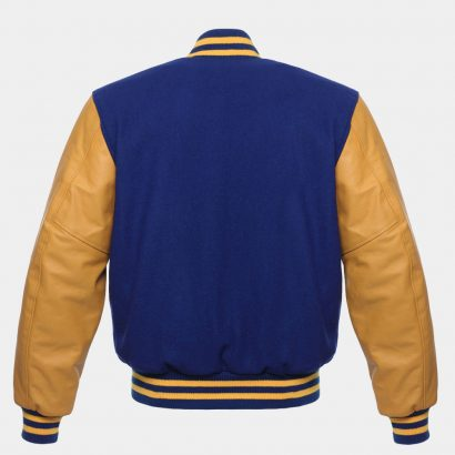 Navy Blue Wool Leather varsity Jacket Fashion Collection Free Shipping