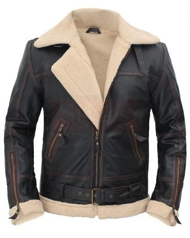Bandit Cafe Racer Jacket in Lagoon Black Hand Waxed Leather Fashion Jackets Free Shipping
