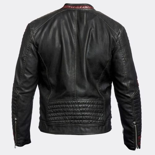 The Best Hepard Stylish Motorcycle Leather Jacket Motorcycle Collection Free Shipping