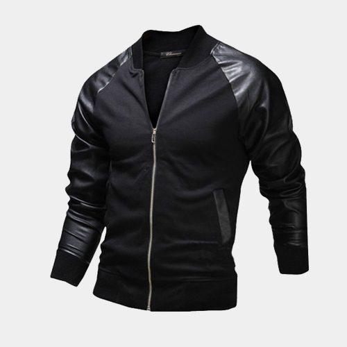 Mens leather varsity jacket Fashion Collection Free Shipping
