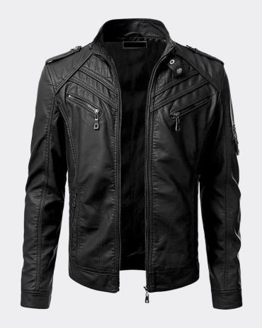 Highly Ventilated Motorcycle Leather Cruiser Armor Touring Jacket for Men Motorbike Jackets Free Shipping