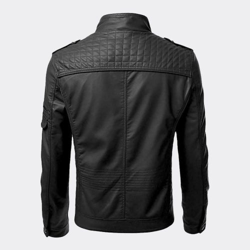 Men's Motorcycle Black Leather Jacket Retro Biker Style Genuine Leather Jacket Motorbike Jackets Free Shipping