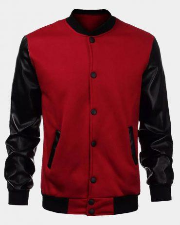 Mens slim fit varsity bomber jacket Fashion Collection Free Shipping