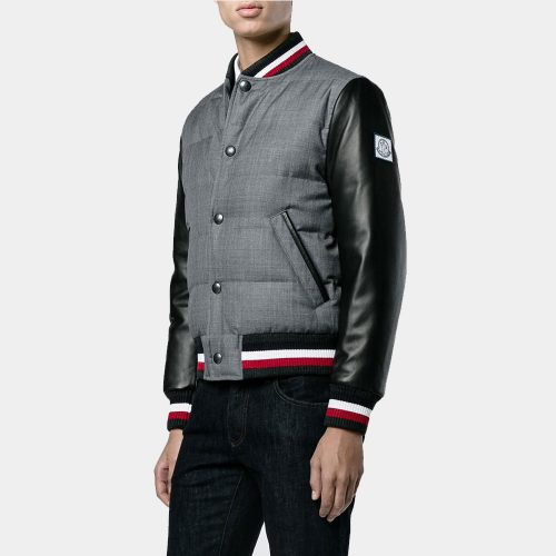 Moncler Gamme Blue varsity jacket Fashion Collection Free Shipping
