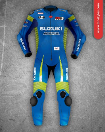 Maverick Vinale Suit 2015 Suzuki MotoGP – Made of Premium Quality Leather. Maverick Vinales Suits Free Shipping