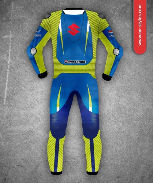 Maverick Vinale Suit 2015 Suzuki MotoGP – Made of Premium Quality Leather. Maverick Vinales Suits Free Shipping