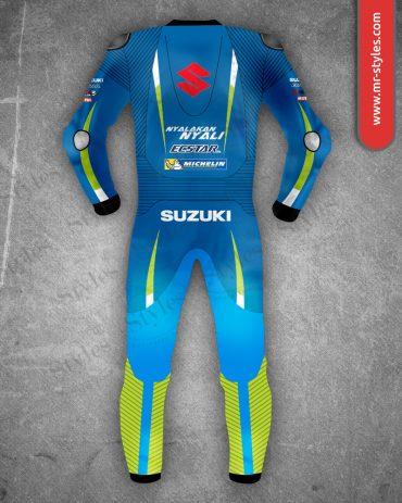 Maverick Vinales Suit 2016 Suzuki Ecstar MotoGp Maverick Vinales Suits Free Shipping