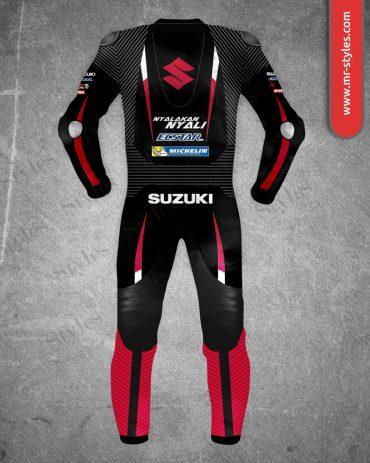 Maverick Vinales Suit 2016 Black & Red Suzuki MotoGP Maverick Vinales Suits Free Shipping
