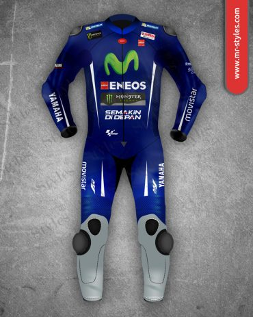 Maverick Vinales Suit 2017 Yamaha Movistar MotoGP Maverick Vinales Suits Free Shipping