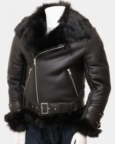 Mens Leather Blazer Jackets Sheepskin Biker Jacket Fashion Collection Free Shipping