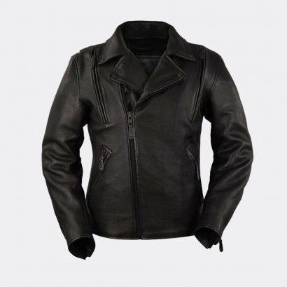 Men Motorcycle Night Rider Platinum Cowhide Leather Jacket 2 Deep Gun Pockets Motorcycle Collection Free Shipping