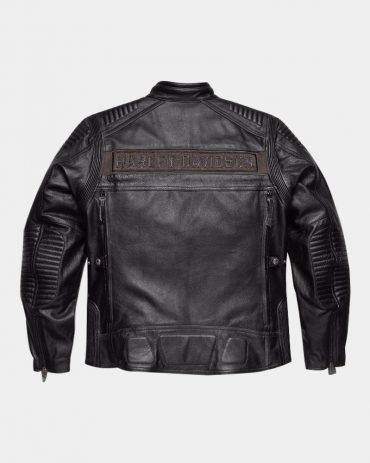 Harley Davidson Men's Asylum Leather Motorcycle Jacket Motorcycle Collection Free Shipping